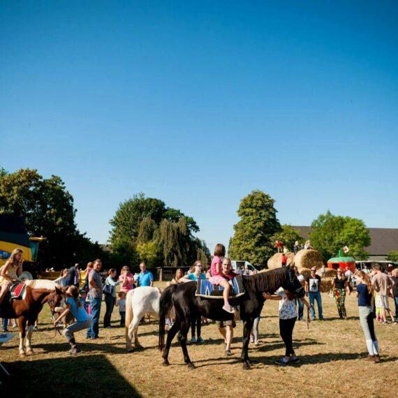 Pferde und Ponyreiten für Kinder auf dem Apfelfest Schumacher aus Erftstadt
